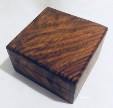 "RUSTIC  4x4"" PLAIN Jewellery Trinket Memory Keepsake Box"